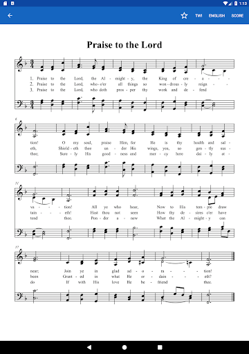 Twi SDA Hymnal App Report on Mobile Action - App Store Optimization