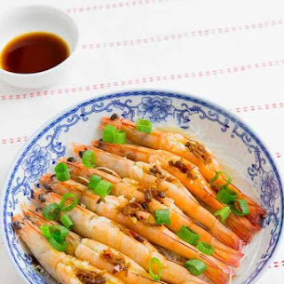 Steamed Prawns with Garlic and XO Sauce