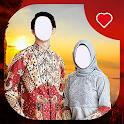 Hijab Batik Couple Photo Frames icon