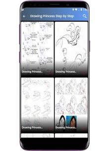 Princess Drawing Step by Step 3