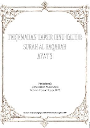 00803 ت تفسير التفسير تفسير ابن عرفة Mohd Roslan Bin Abdul Ghani