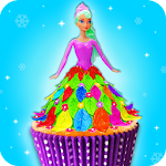 Edible Doll Cupcake Maker! Bake Cupcakes with Chef Icon