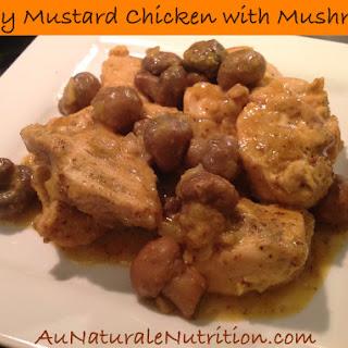 Oven Baked Honey Mustard Chicken with Mushrooms