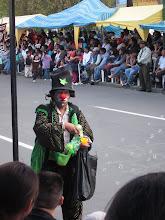 Photo: Clown selling bubble guns