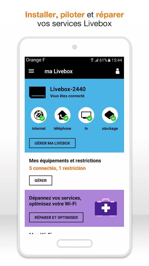 ma Livebox – Capture d'écran