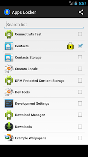 Applications locker screenshot