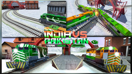 Modern Pak vs Indian Train Race: Azadi Train Game 1.0 screenshots 18