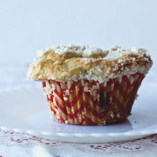 Rhubarb Blueberry Cardamom Streusel Muffins Recipe