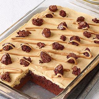 Peanut Butter Poke Cake Brownies.