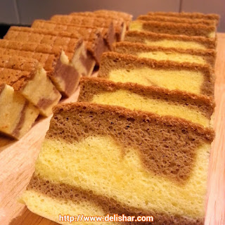 Marbled Ogura Cake Recipe