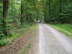 Photo: 7e Dag, woensdag 22 juli 2009 Shellbronn -Melchingen Dag afstand: 81,6 km. Totaal gereden: 664 km. Samen door het bos Schonbuch