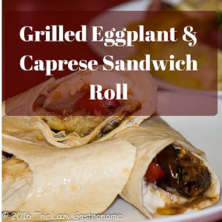 Grilled Eggplant and Caprese Sandwich Roll