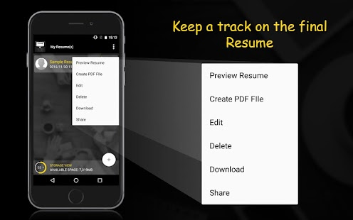 resume builder screenshot thumbnail