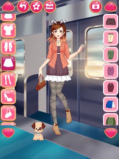 Anime Girls Fashion - Makeup & Dress up apktram screenshots 11