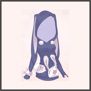 バニーパーカー(紫)