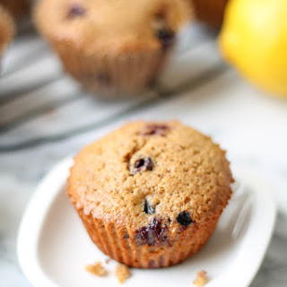Lemon Berry Spelt Flour Muffins.