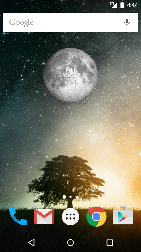 Simple Moon Phase Widget- screenshot