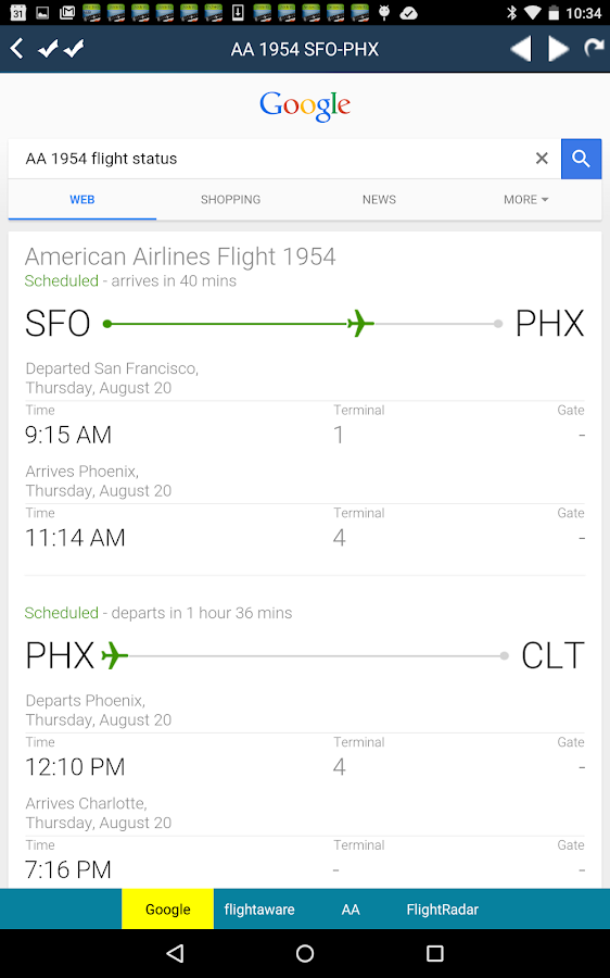 Phoenix Airport Radar Phx Flight Tracker Android Apps
