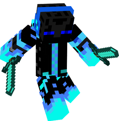 Cool, very cool, no wait, blue fire is the hottest fire, oh no... If ur wondering if I just copied this, then no. I am the original maker of this skin, I just fixed it. add me pls, GreatEnderman12. :p