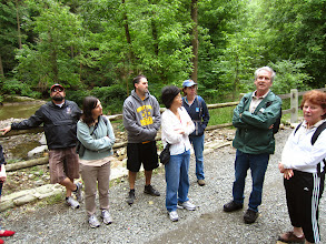 Photo: Chatting with Friends of the Wissahickon Trail Ambassadors