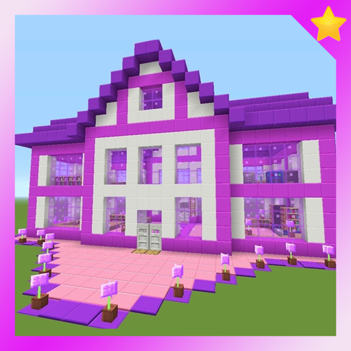 Map Barbie Pink House MCPE