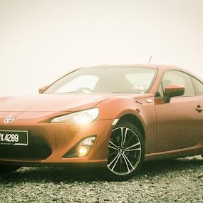 Legend by Michael Tan - Transportation Automobiles ( orange, fog, legend, 86, toyota )