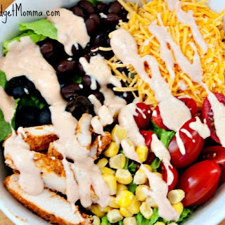 Skinny Chicken Taco Salad