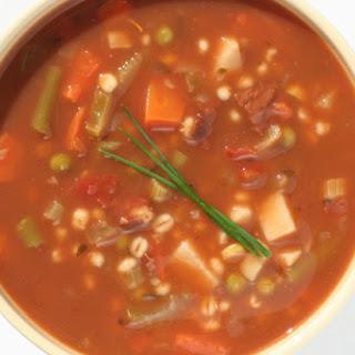 Slow Cooker Vegetable & Barley Soup.