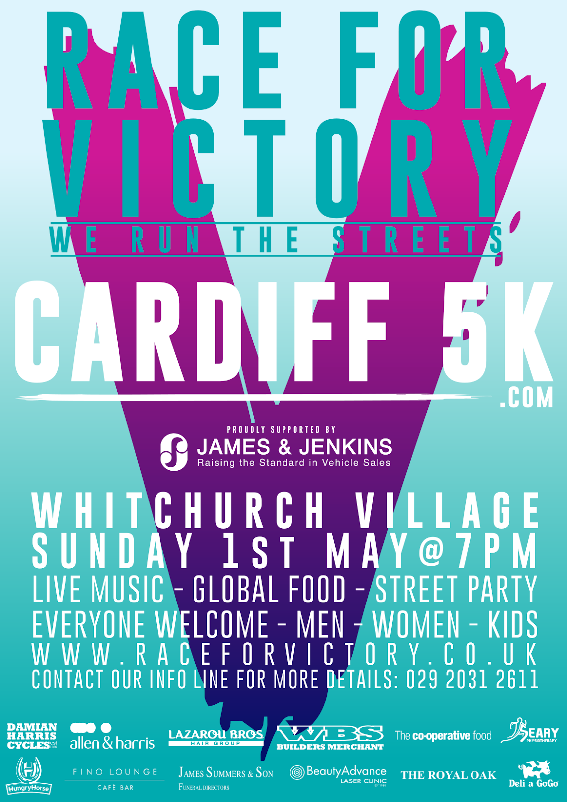 Cardiff 5K - Race For Victory flyer