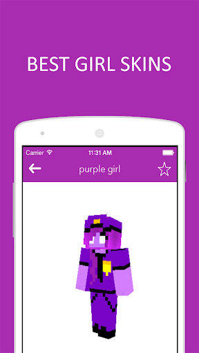 3D Girl Skins for Minecraft PE