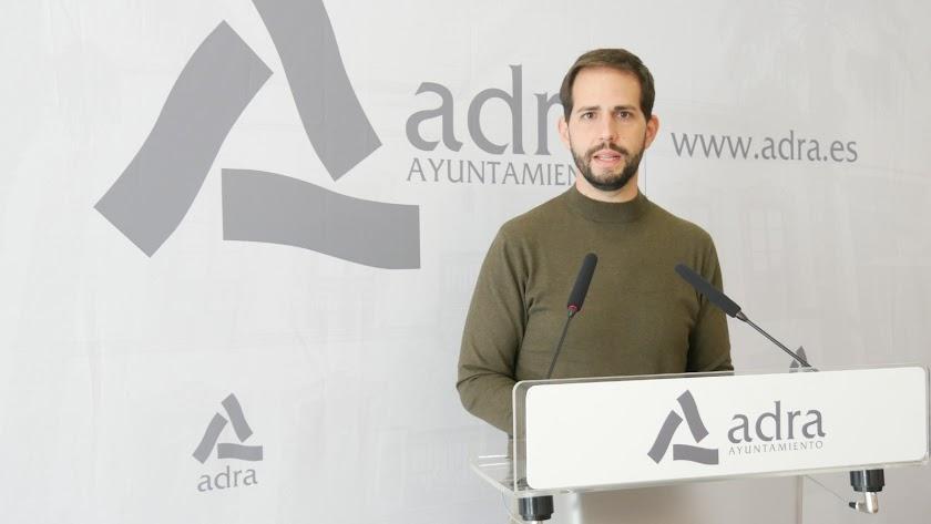 Jose Crespo, portavoz del equipo de Gobierno de Adra.