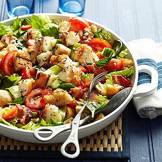 Lobster Roll Salad with Bacon Vinaigrette
