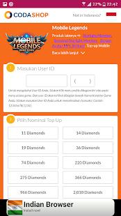 Coda Shop Topup - Diamond ML Indo APK 1 0 Download - Free Shopping