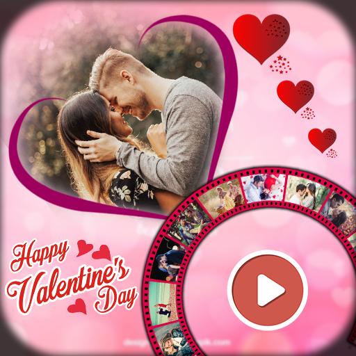 14th Feb. Happy Valentine Day Video Music Maker