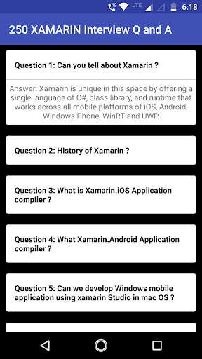 250+ XAMARIN Interview Q & A | Full Preparation by ZOZO Apps
