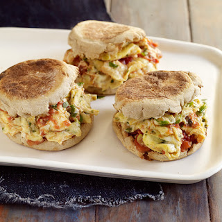 Mexican Scrambled Egg Sandwiches.