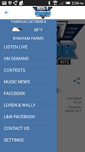 105.7 WROR- screenshot thumbnail