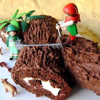 Buche de Noel, Yule Log Cake.