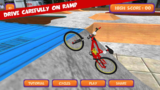 BMX Cycle Stunt : 2 Finger Touch Ride & Stunts 2.2 screenshots 1
