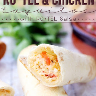 RO*TEL & Chicken Taquitos with RO*TEL Salsa