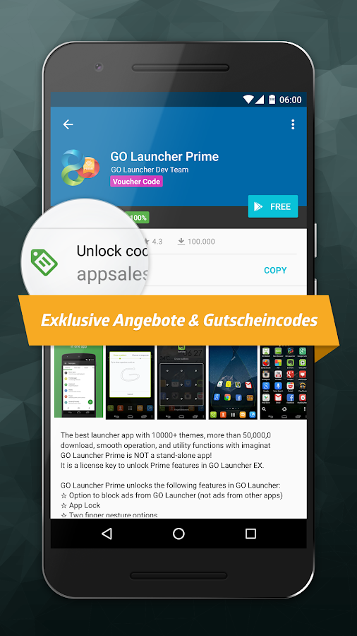 AppSales. App-Angebote – Screenshot