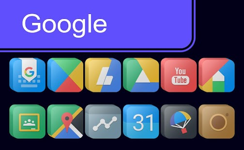 Pixel Cubic 3D - Icon Pack Screenshot