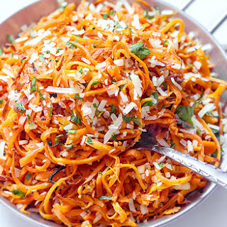 Baked Sweet Potato Noodles with Garlic and Parmesan