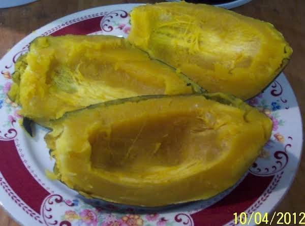 Acorn Squash Baked In A Nordic-ware Tender Cooker