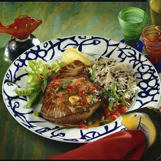 Tuna Steaks with Lemon and Tarragon Sauce.