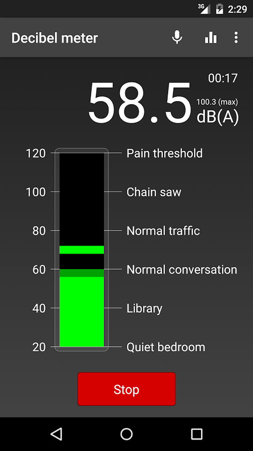 Noise Exposure- screenshot