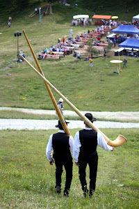 Alphorn Players in Nendaz