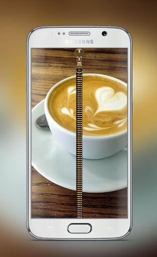Coffee Art Lock Screen