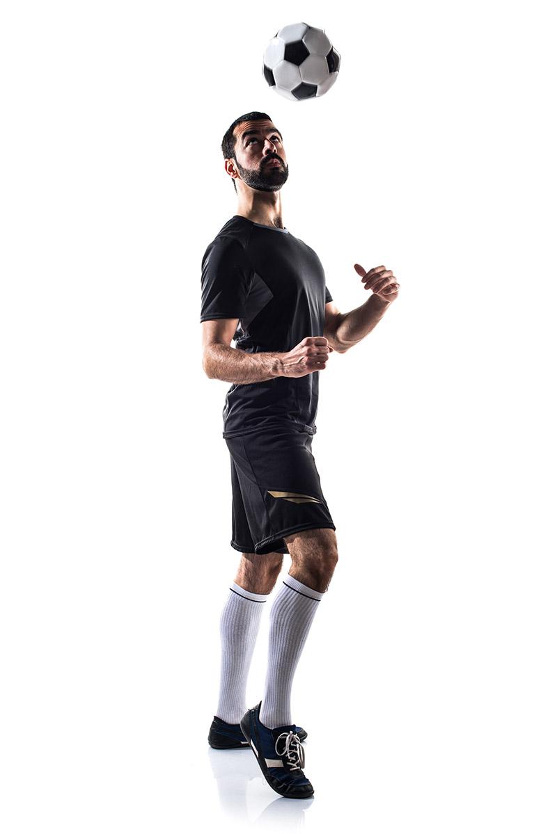 Juggle a soccer ball - heading