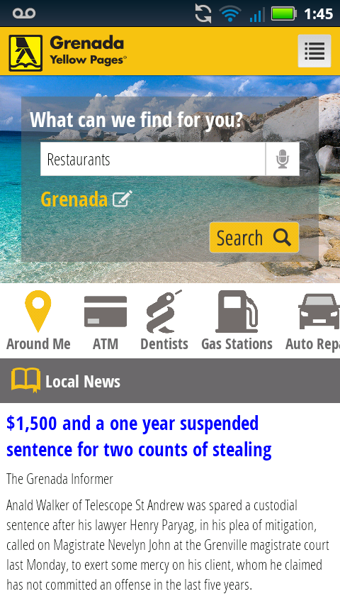 Grenada Yellow Pages- screenshot